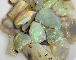 Cutters Select Bright Small Size Rough Seam Opals (video) #184