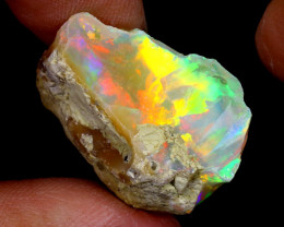 28cts Natural Ethiopian Welo Rough Opal / WR6398