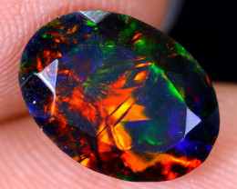 2.06cts Natural Ethiopian Welo Faceted Smoked Opal / HM1923