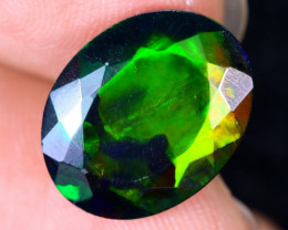 4.50cts Natural Ethiopian Welo Faceted Smoked Opal / HM1926