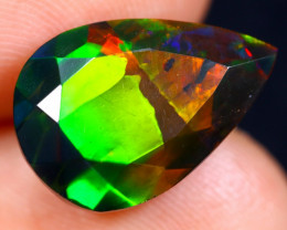 4.67cts Natural Ethiopian Faceted Smoked Welo Opal / BF5570