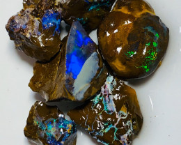 Cutters Select Bright Rough Boulder Opals - Must Watch the Video