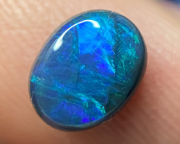 1.10 cts SOLID BLACK OPAL LIGHTNING RIDGE GEM $1 N/R AUCTION B0A140121