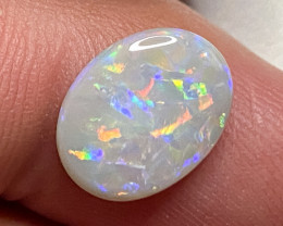 2.40ct  SOLID CRYSTAL OPAL LIGHTNING RIDGE  $1 N/R AUCTION COA140121