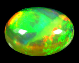 Opal 2.43 Cts AAA Multicolor cabochon BGC644