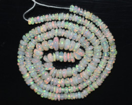 34.60 Ct Natural Ethiopian Welo Opal Beads Play Of Color OB202