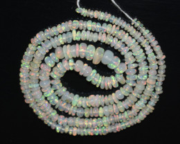 22.20 Ct Natural Ethiopian Welo Opal Beads Play Of Color OB214