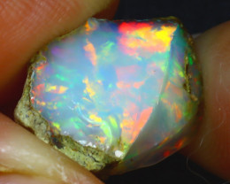 6.20Ct Multi Color Play Ethiopian Welo Opal Rough J1702/R2