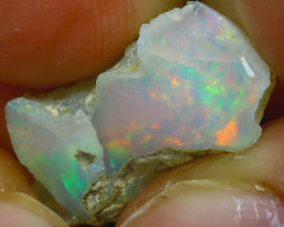 9.00Ct Multi Color Play Ethiopian Welo Opal Rough J1703/R2