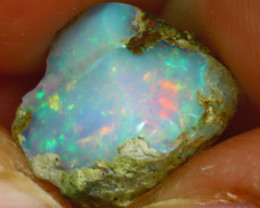 7.70Ct Multi Color Play Ethiopian Welo Opal Rough J1705/R2