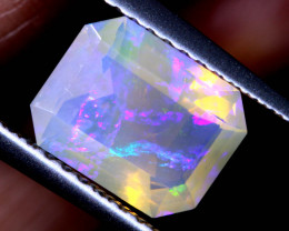 1.34 CTS FACETED CRYSTAL OPAL LIGHTNING RIDGE TBO-A2580