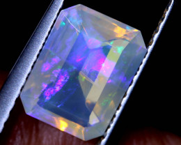 1.08 CTS FACETED CRYSTAL OPAL LIGHTNING RIDGE TBO-A2583