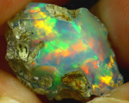 5.80Ct Multi Color Play Ethiopian Welo Opal Rough J1914/R2