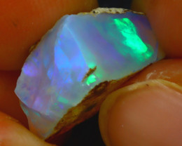 6.97Ct Multi Color Play Ethiopian Welo Opal Rough J1916/R2