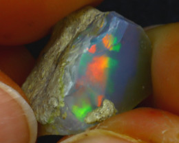 9.68Ct Multi Color Play Ethiopian Welo Opal Rough J1918/R2