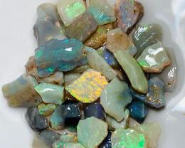 Small Size Bright Multicolour Seam Rough Opals