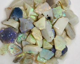 82 CTs Colourful Small Size Bright Crystal Seam Opals#240