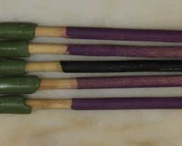 5 Dopping Sticks  Purple/Black Medium 2-15ct [31302]