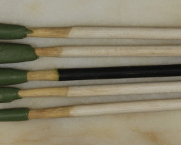 NO RESERVE!! 5 Dopping Sticks White Small .3-.9ct [31321] 53FROGS