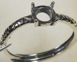 Ring Setting 6mm Round  [31340]