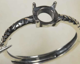 Ring Setting 6mm Round  [31358]
