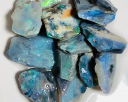 Semi-Black Rough Seam Opals With Bright Bars, 50 CTs#254
