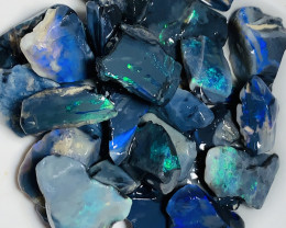 Black To Cut- 150 CTs Rough Black Seam Opals For Cutters#259