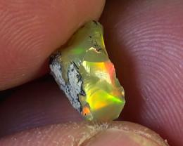3.00 cts Ethiopian Welo CHAFF FLASH rough brilliant opal N6 5/5