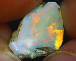 6.02Ct Multi Color Play Ethiopian Welo Opal Rough J2108/R2