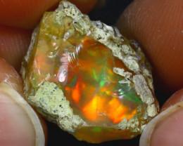 8.57Ct Multi Color Play Ethiopian Welo Opal Rough J2117/R2