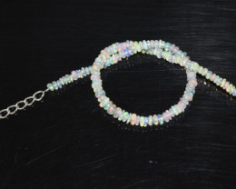 10.70 CT OPAL BRACELET MADE OF NATURAL ETHIOPIAN BEADS STERLING SILVER OBB1