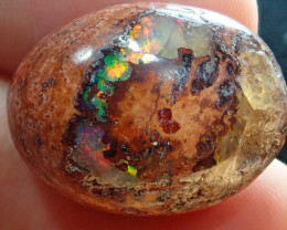 21.23ct Mexican Matrix Cantera Multicoloured Fire Opal