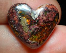 14.9ct Mexican Matrix Cantera Multicoloured Fire Opal