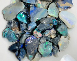Black Rough Opals With Various Sizes & Nice Bright Cutters#282