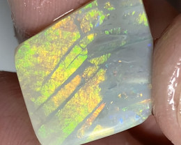 Candle Flame* Gem Grade Bright Rub Opal, Stunning Pattern for Jewellery (RR