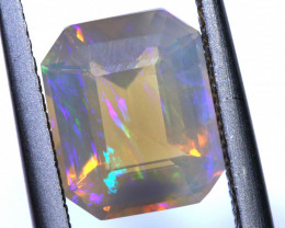2 CTS LIGHTNING RIDGE FACETED CRYSTAL OPAL TBO-A2596
