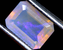 1.3 CTS LIGHTNING RIDGE FACETED CRYSTAL OPAL TBO-A2607