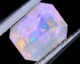 Faceted Lightning Ridge Crystal Opal
