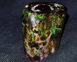 29.00 CRT FLORAL RAINBOW PEACOCK FIRE INDONESIAN OPALIZED WOOD FOSSIL
