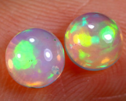 0.82cts Natural Ethiopian Welo Opal Earing Pairs / BF5668