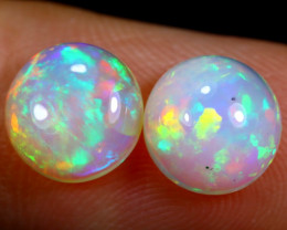 2.38cts Natural Ethiopian Welo Opal Earing Pairs / BF5676