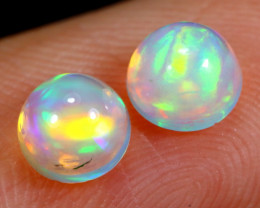 0.84cts Natural Ethiopian Welo Opal Earing Pairs / BF5678