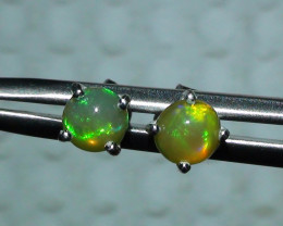 Opal Solid Crystal Sterling Silver Earring's *