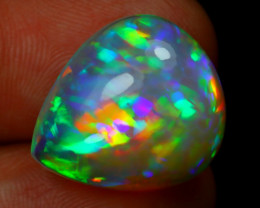 15.04Ct Prism Rainbow Puzzle Pattern Brught 5/5 Welo Opal RT07