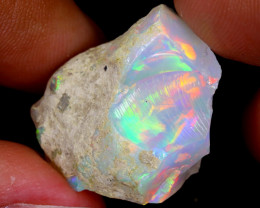 22cts Natural Ethiopian Welo Rough Opal / WR6578