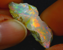 6.97Ct Multi Color Play Ethiopian Welo Opal Rough J2317/R2
