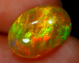3.01Ct Chaff Patchwork Pattern Metallic Flash Color Welo Opal E2002