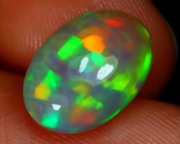 2.63Ct Ribbon Mackerel Pattern Neon Rainbow Flash Color Welo Opal E2009