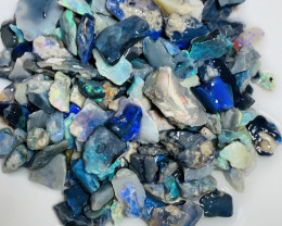 Black Chips Anyone? 220 CTs Bright Rough Black Opals#311