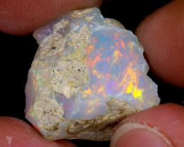 17cts Natural Ethiopian Welo Rough Opal / WR6651